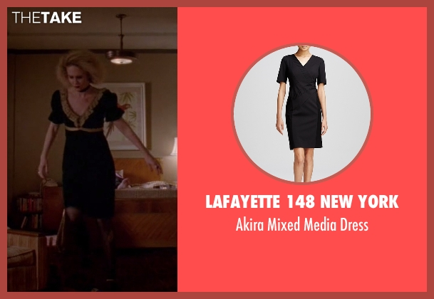 Lafayette 148 New York black dress from American Horror Story seen with Hypodermic Sally (Sarah Paulson)