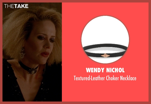Wendy Nichol black necklace from American Horror Story seen with Hypodermic Sally (Sarah Paulson)