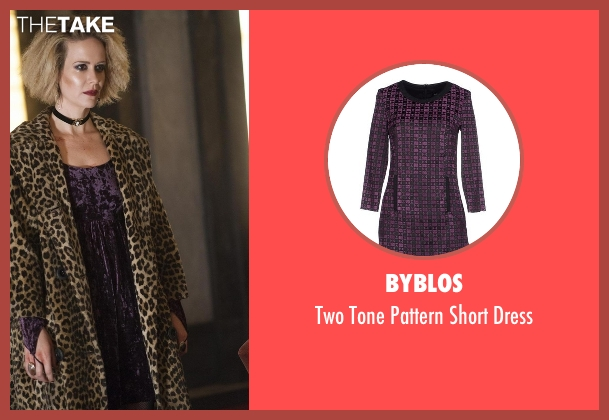 Byblos purple dress from American Horror Story seen with Hypodermic Sally (Sarah Paulson)
