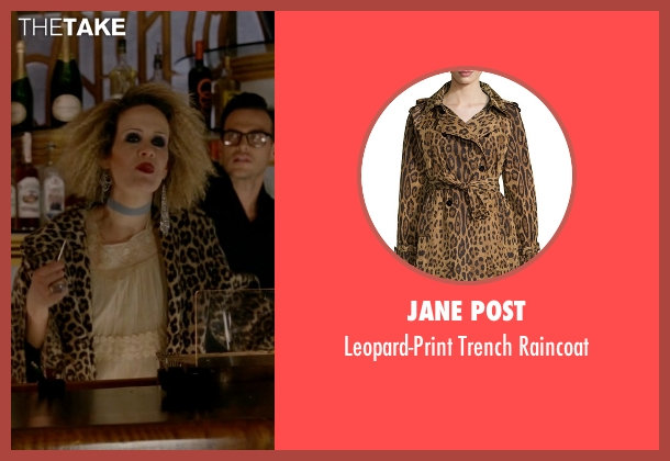 Jane Post raincoat from American Horror Story seen with Hypodermic Sally (Sarah Paulson)
