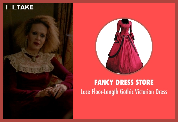 Fancy Dress Store red dress from American Horror Story seen with Hypodermic Sally (Sarah Paulson)