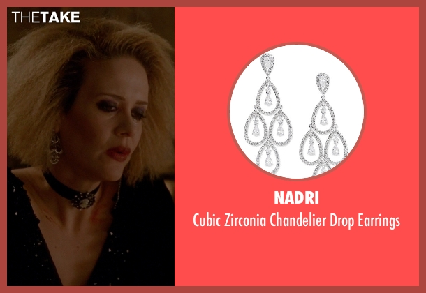 Nadri silver earrings from American Horror Story seen with Hypodermic Sally (Sarah Paulson)