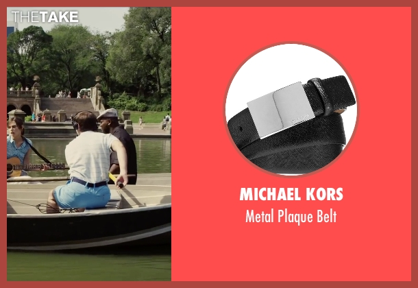 Michael Kors black belt from Begin Again seen with Ian Brodsky (Malcolm)