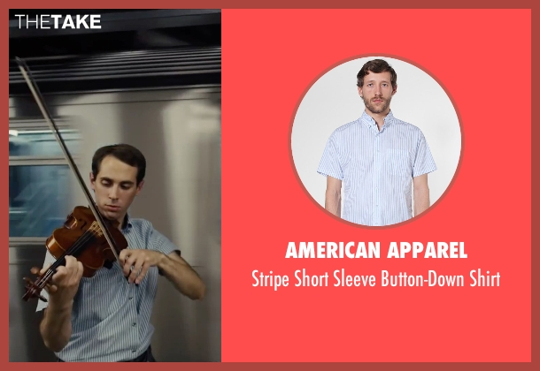 American Apparel blue shirt from Begin Again seen with Ian Brodsky (Malcolm)