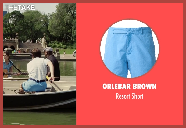 Orlebar Brown blue short from Begin Again seen with Ian Brodsky (Malcolm)