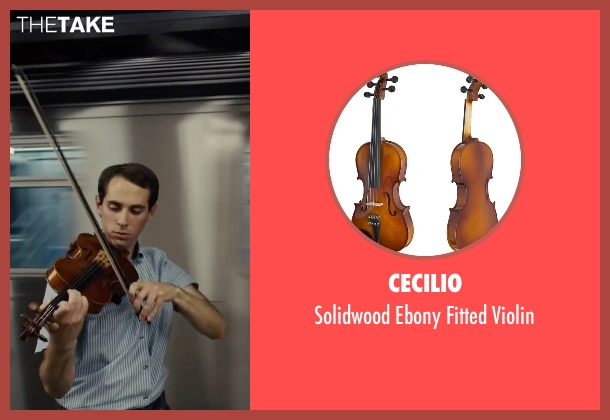 Cecilio violin from Begin Again seen with Ian Brodsky (Malcolm)