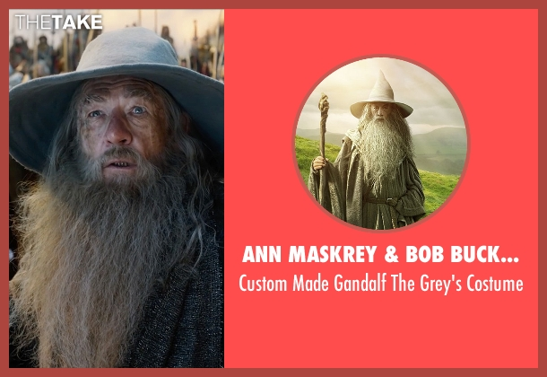 Ann Maskrey & Bob Buck (Costume Designer) costume from The Hobbit: The Battle of The Five Armies seen with Ian McKellen (Gandalf)