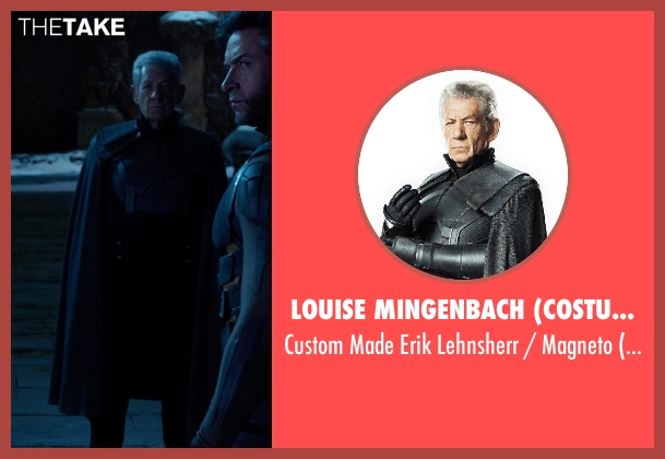 Louise Mingenbach (Costume Designer) costume from X-Men: Days of Future Past seen with Ian McKellen (Erik Lehnsherr / Magneto - older)