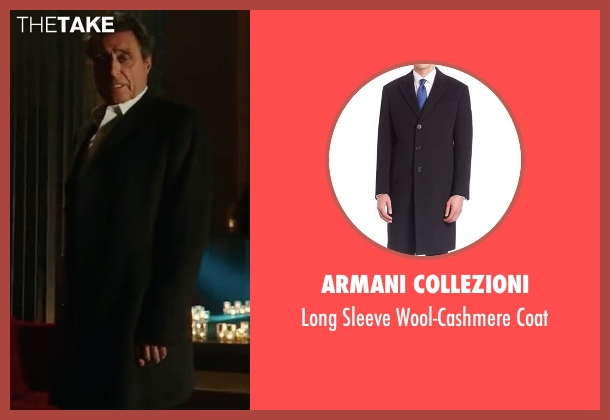 Armani Collezioni black coat from John Wick: Chapter 2 seen with Ian McShane (Winston)