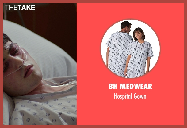 BH Medwear gown from The Best of Me seen with Ian Nelson (Jared)