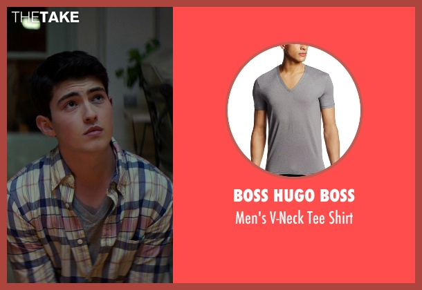 Boss Hugo Boss gray shirt from The Best of Me seen with Ian Nelson (Jared)