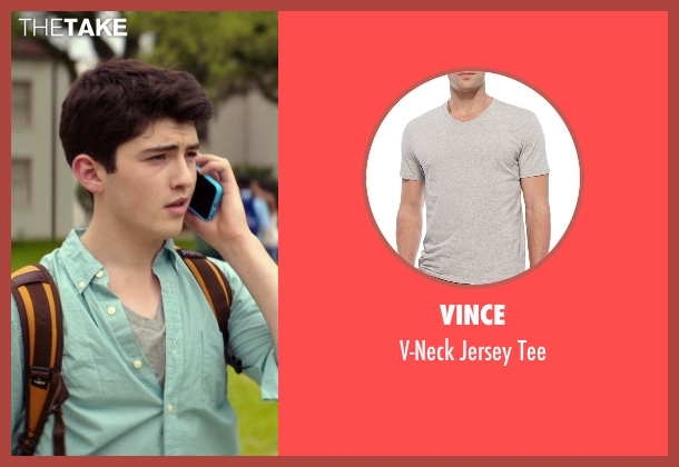 Vince	 gray tee from The Best of Me seen with Ian Nelson (Jared)