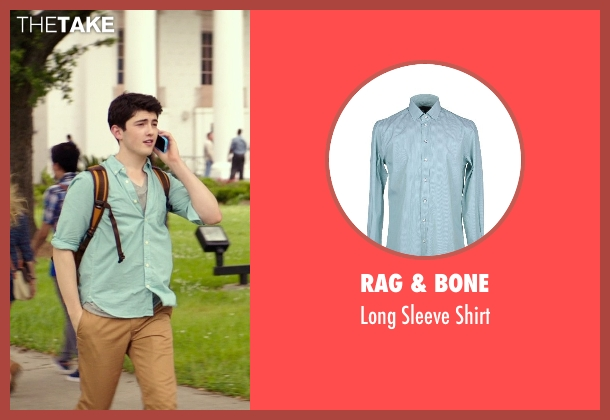 Rag & Bone green shirt from The Best of Me seen with Ian Nelson (Jared)