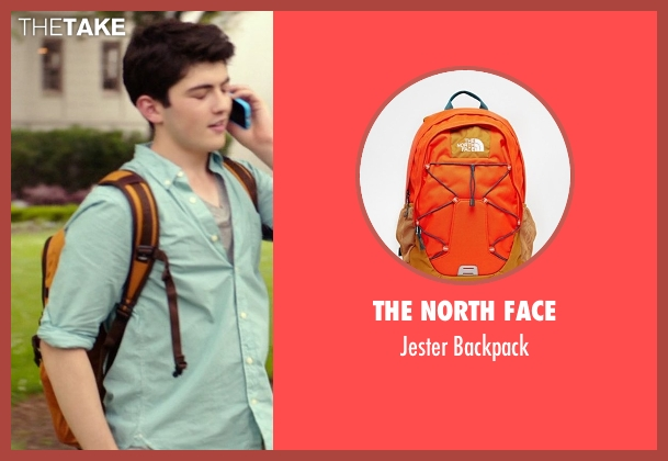 The North Face orange backpack from The Best of Me seen with Ian Nelson (Jared)