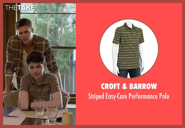 Croft & Barrow green polo from The Boy Next Door seen with Ian Nelson (Kevin)