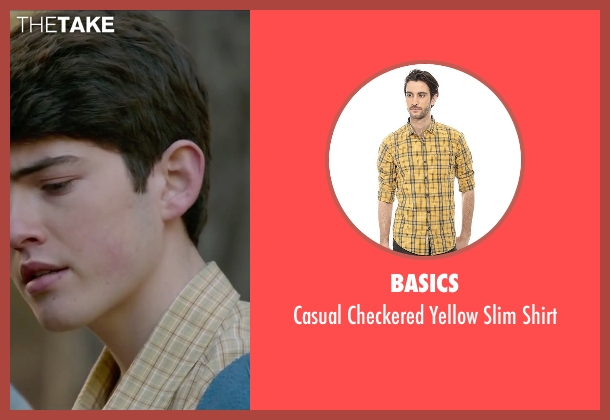 Basics yellow shirt from The Boy Next Door seen with Ian Nelson (Kevin)