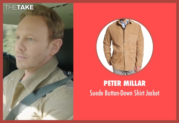Peter Millar beige jacket from Sharknado 4: The Fourth Awakens seen with Ian Ziering (Fin Shepard)