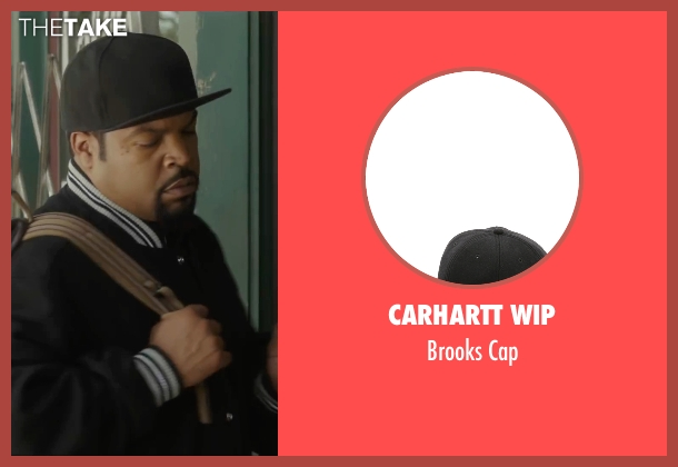 Carhartt WIP black cap from Barbershop: The Next Cut seen with Ice Cube (Calvin Palmer)