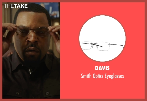 Davis black eyeglasses from Barbershop: The Next Cut seen with Ice Cube (Calvin Palmer)
