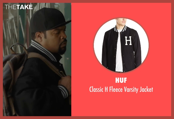HUF black jacket from Barbershop: The Next Cut seen with Ice Cube (Calvin Palmer)