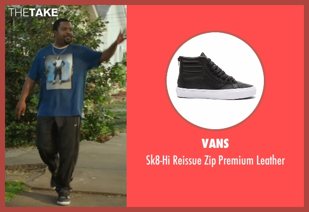 Vans black leather from Barbershop: The Next Cut seen with Ice Cube (Calvin Palmer)