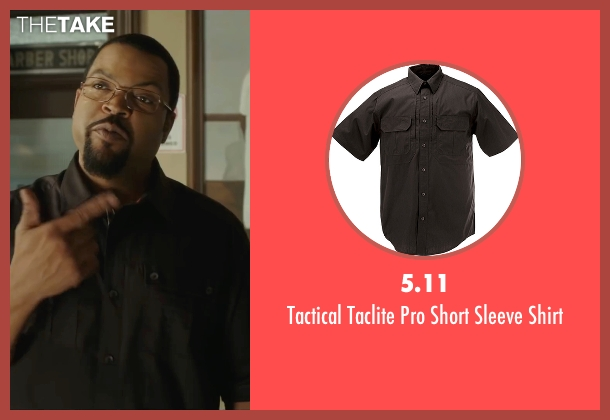 5.11 black shirt from Barbershop: The Next Cut seen with Ice Cube (Calvin Palmer)
