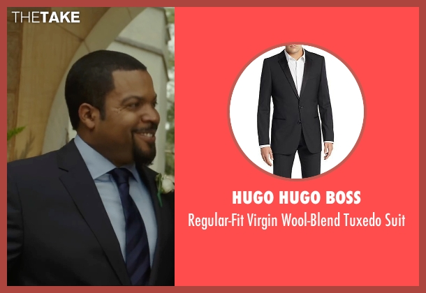 Hugo Hugo Boss black suit from Barbershop: The Next Cut seen with Ice Cube (Calvin Palmer)