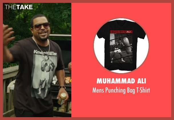 Muhammad Ali black t-shirt from Barbershop: The Next Cut seen with Ice Cube (Calvin Palmer)
