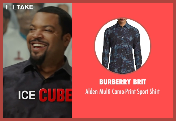 Burberry Brit blue shirt from Barbershop: The Next Cut seen with Ice Cube (Calvin Palmer)