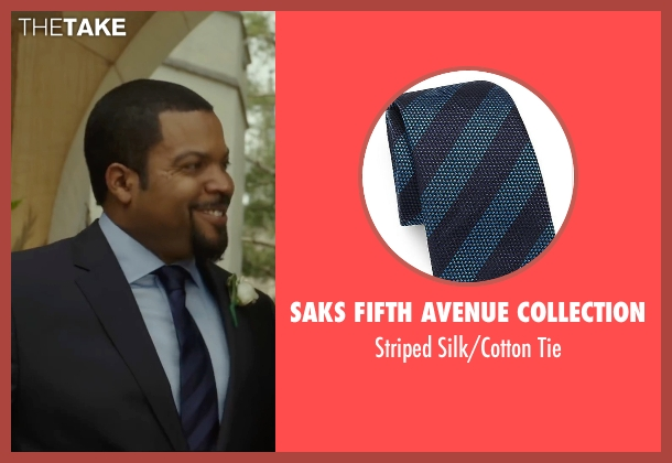 Saks Fifth Avenue Collection blue tie from Barbershop: The Next Cut seen with Ice Cube (Calvin Palmer)