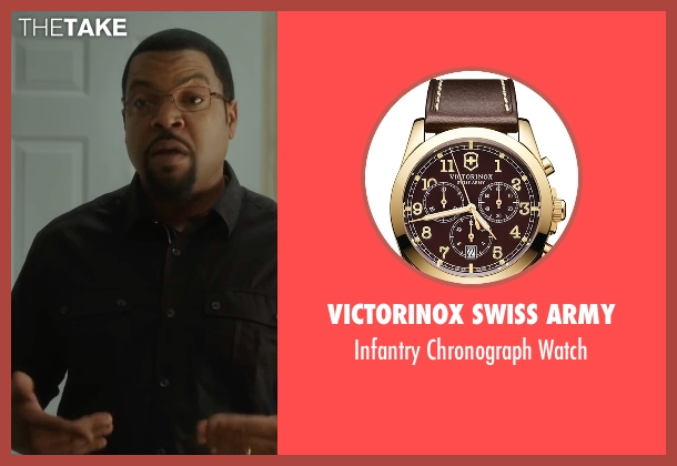 Victorinox Swiss Army brown watch from Barbershop: The Next Cut seen with Ice Cube (Calvin Palmer)