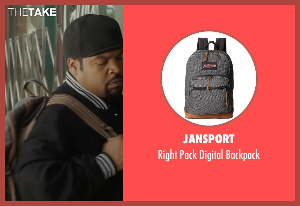JanSport  gray backpack from Barbershop: The Next Cut seen with Ice Cube (Calvin Palmer)
