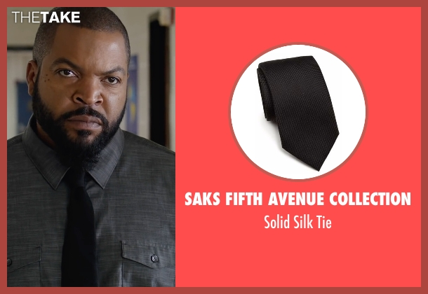 Saks Fifth Avenue Collection black tie from Fist Fight seen with Ice Cube (Ron Strickland)
