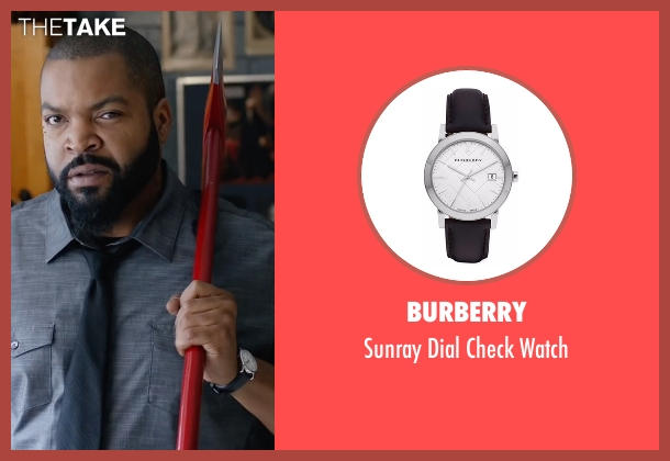 Burberry black watch from Fist Fight seen with Ice Cube (Ron Strickland)
