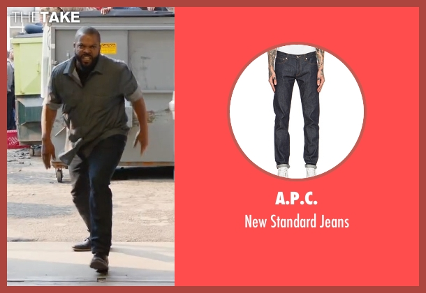 A.P.C. blue jeans from Fist Fight seen with Ice Cube (Ron Strickland)
