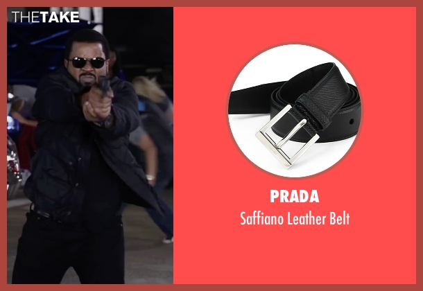Prada black belt from Ride Along 2 seen with Ice Cube (James Payton)