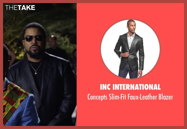 INC International black blazer from Ride Along 2 seen with Ice Cube (James Payton)