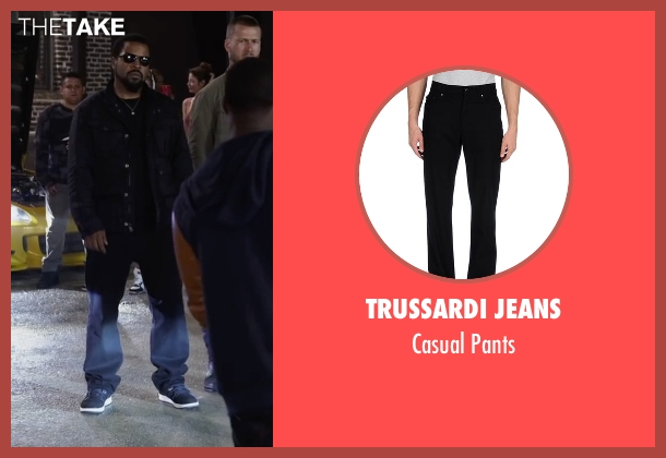 Trussardi Jeans black pants from Ride Along 2 seen with Ice Cube (James Payton)