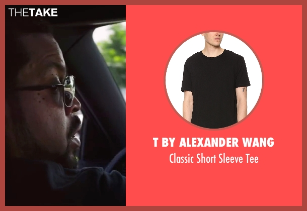 T by Alexander Wang black tee from Ride Along 2 seen with Ice Cube (James Payton)