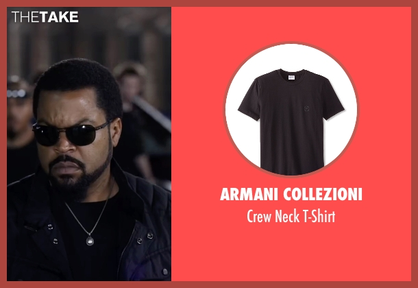 Armani Collezioni black t-shirt from Ride Along 2 seen with Ice Cube (James Payton)