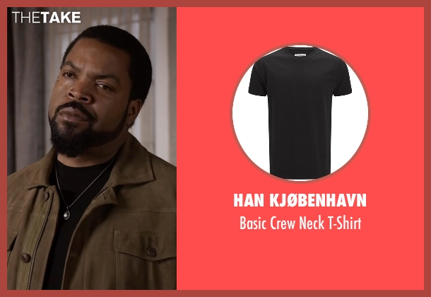 Han Kjøbenhavn black t-shirt from Ride Along 2 seen with Ice Cube (James Payton)