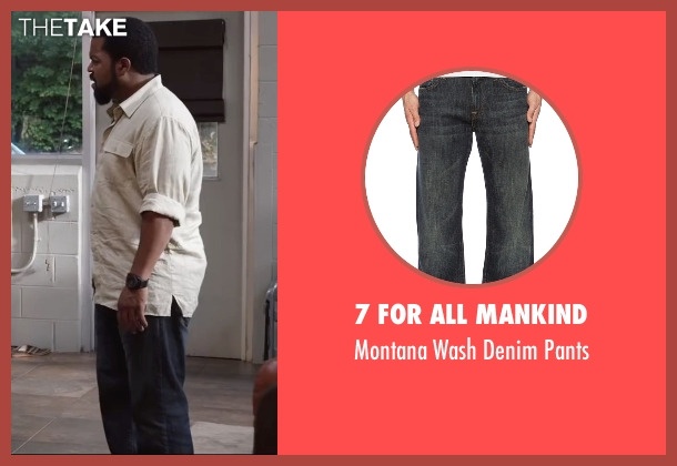 7 For All Mankind blue pants from Ride Along 2 seen with Ice Cube (James Payton)