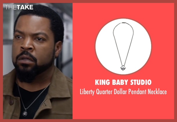 King Baby Studio silver necklace from Ride Along 2 seen with Ice Cube (James Payton)