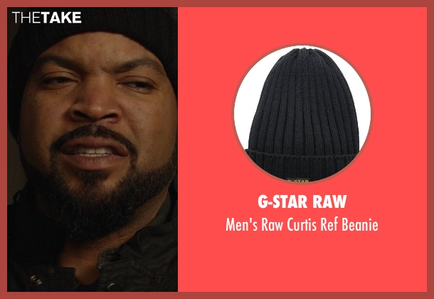 G-Star Raw black beanie from Ride Along seen with Ice Cube (James Payton)