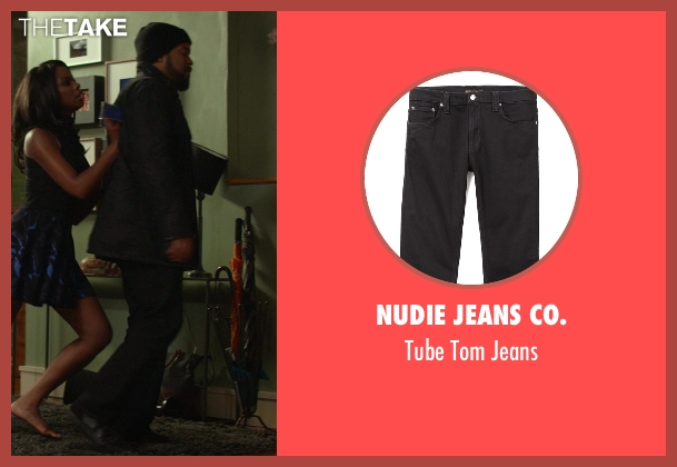 Nudie Jeans Co. black jeans from Ride Along seen with Ice Cube (James Payton)