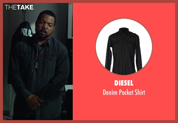 Diesel black shirt from Ride Along seen with Ice Cube (James Payton)