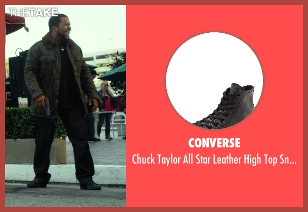Converse black sneakers from Ride Along seen with Ice Cube (James Payton)