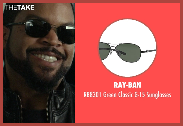 Ray-Ban black sunglasses from Ride Along seen with Ice Cube (James Payton)