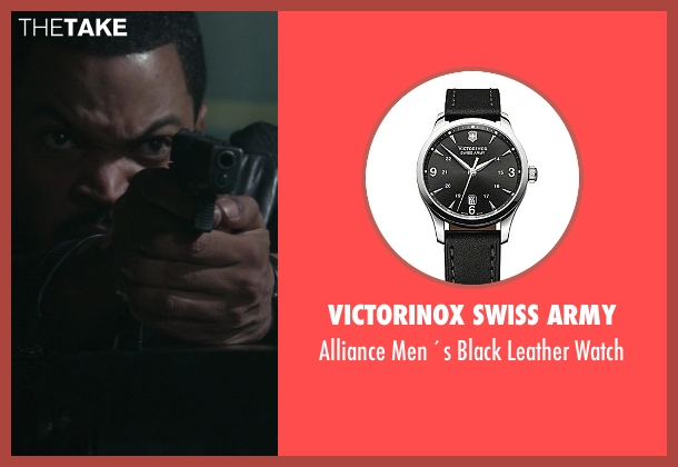 Victorinox Swiss Army black watch from Ride Along seen with Ice Cube (James Payton)