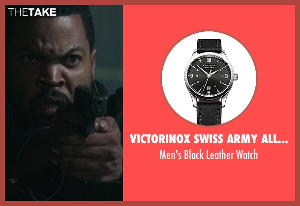 Victorinox Swiss Army Alliance black watch from Ride Along seen with Ice Cube (James Payton)